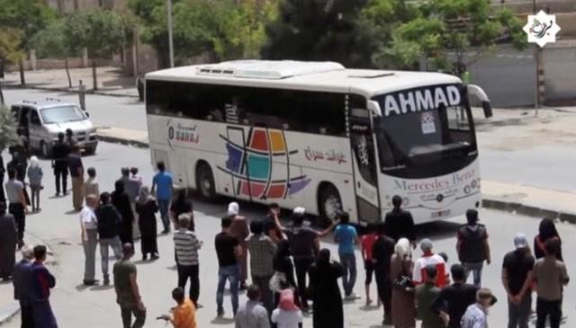 Last 1,000 Insurgents Evacuate Damascus Suburb Under Government Deal