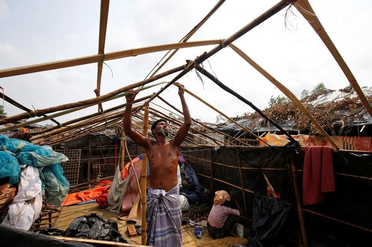 Rohingya Refugees Stranded in Bangladesh After Cyclone Wreckage