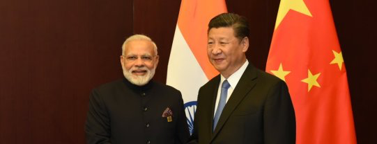 Modi and Xi Seek to Project Image of Stability in an Uncertain World