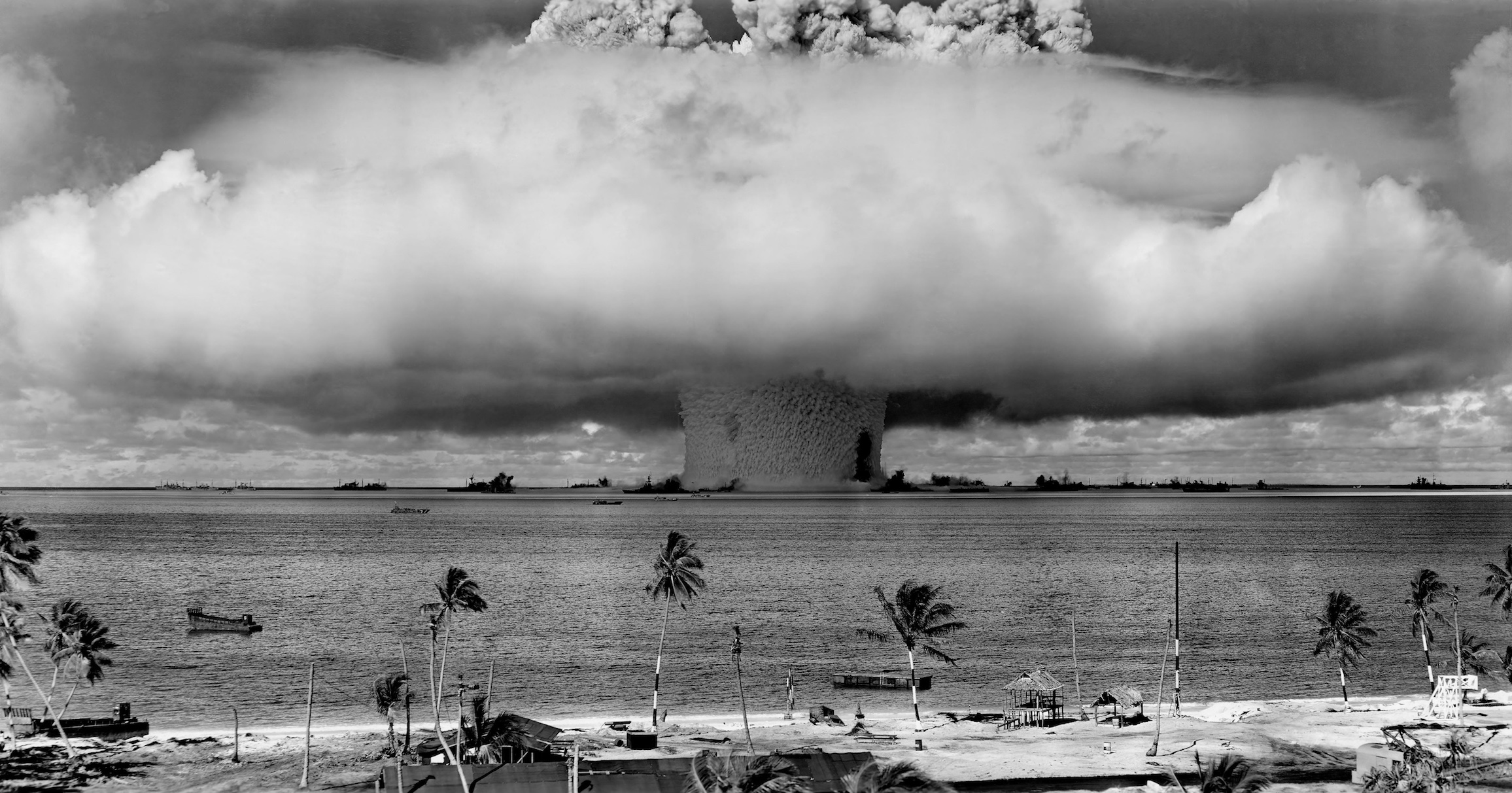 Mushroom-shaped cloud and water column from the underwater nuclear explosion of July 25, 1946, which was part of Operation Crossroads. Credit: Wikipedia