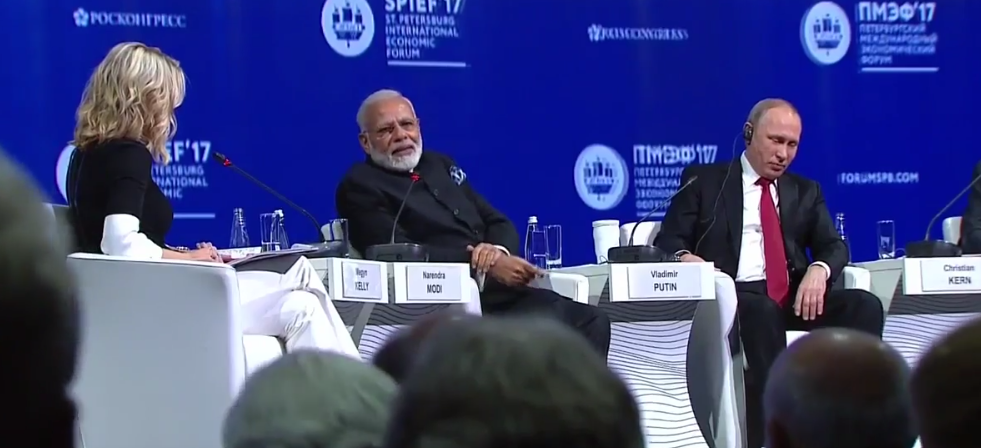 At St Petersburg, Modi and Putin Field Questions on Election Hacking, Climate Change and Terrorism