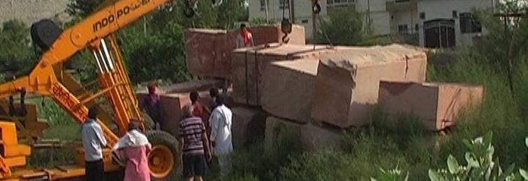 Stones for Construction of Ram Mandir Start Arriving in Ayodhya