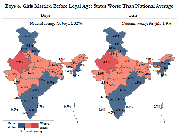 Source: A Statistical Analysis of Child Marriage in India based on 2011 Census/IndiaSpend