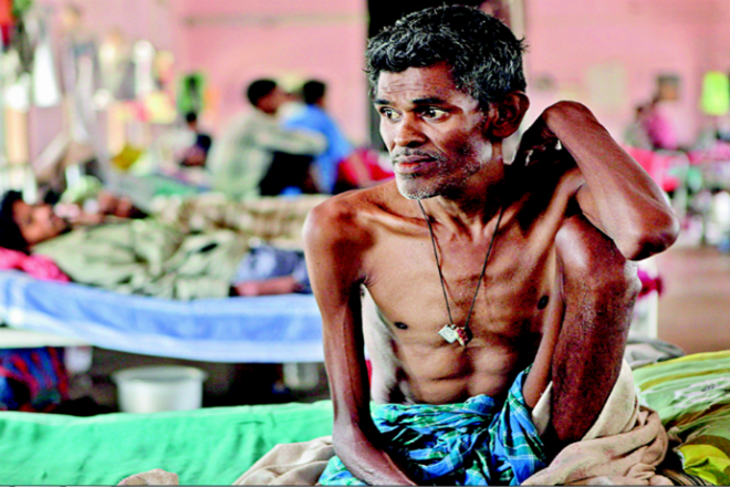 The incidence of TB in India is 217 per 1,00,000 population. Credit: PTI