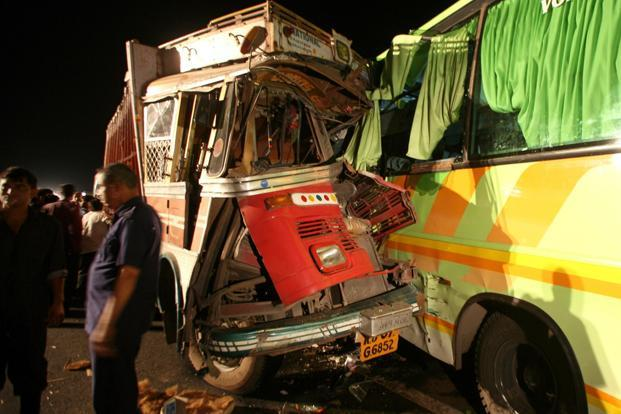 UP State Bus Collides With Truck, 22 Burnt to Death