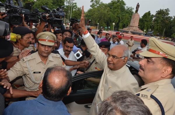 Ram Nath Kovind on his way to Delhi. Credit: Governor of Bihar website