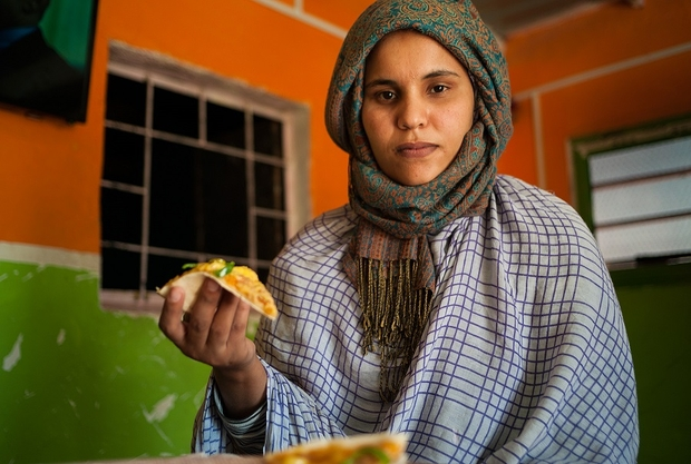 Hindu Mani is the first Sahrawi woman to open a pizzeria in the Sahrawi refugee camps, around 50 kilometres from the Algerian city of Tindouf Credit: MEE/Eugenio G. Delgado