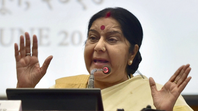 Swaraj Contradicts Trump's Claims That Climate Pact Gave India 'Billions of Dollars'
