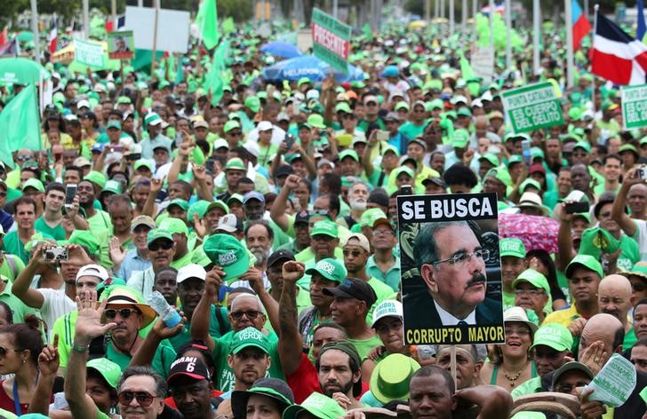 Tens of Thousands Protest Corruption in Dominican Republic