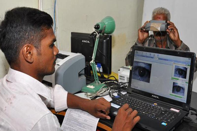 A man registering for Aadhar. Something as important as Aadhar required due-diligence. Credit: PTI