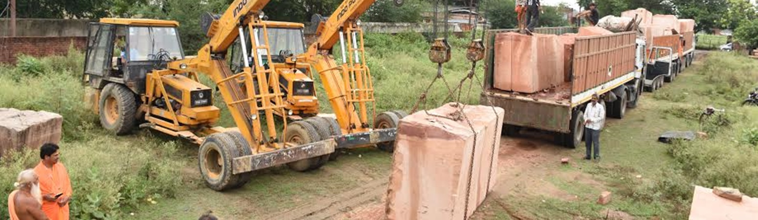 Three More Trucks of Stones for Construction of Ram Mandir Arrive in Ayodhya