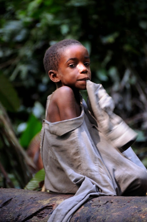 'Eco guards' are alleged to have physically abused hunter-gatherer Baka people and destroyed their camps. Pictured: a Baka child. Credit: Wikimedia Commons/JMGRACIA100