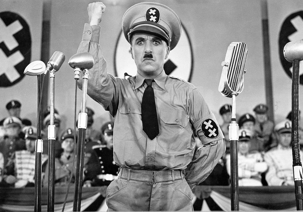 Charlie Chaplin in <em>The Great Dictator</em>.