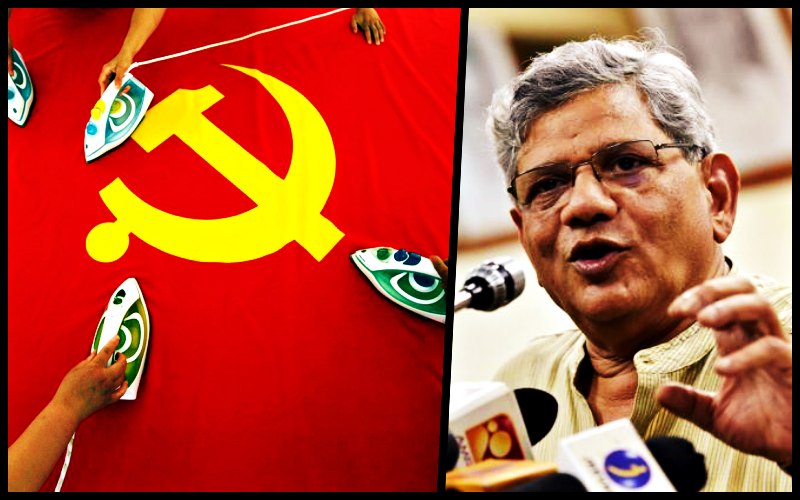 """Three weeks into the standoff with China, the CPI(M) general secretary Sitaram Yechury has only issued a boilerplate call for """"peace and tranquility"""" with India's neighbours. Credit: Reuters/PTI"""