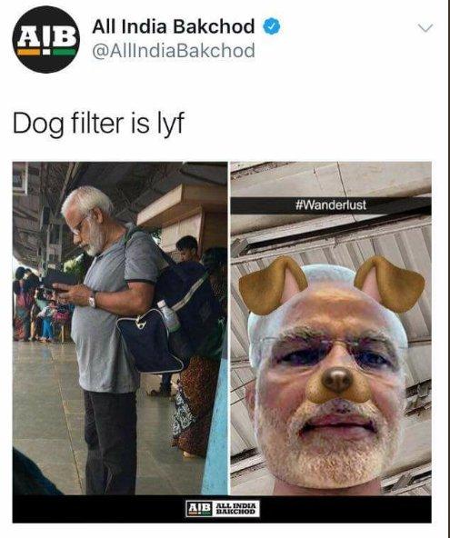 Narendra Modi dog meme All india bakchod