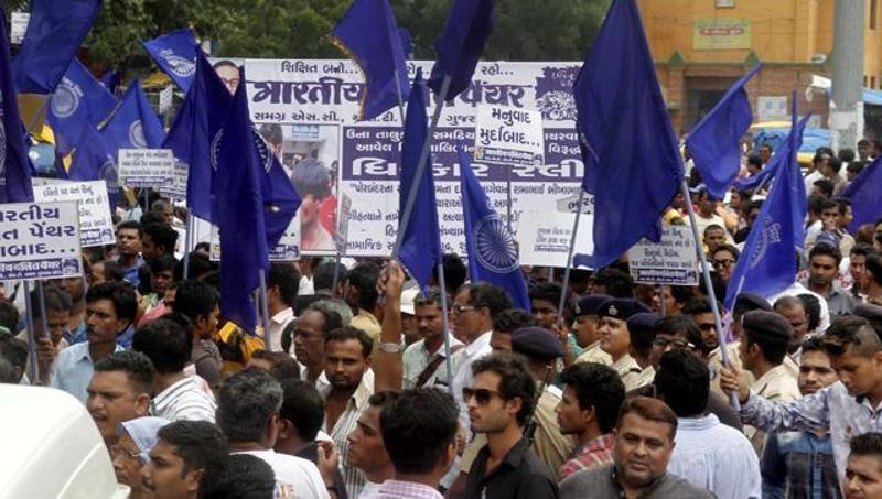 Dalits protesting discrimination against the community in August 2016. Credit: PTI