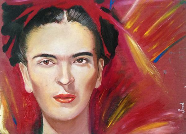 A portrait of Frida Kahlo by Saed de los Santos. Credit: Wikimedia Commons