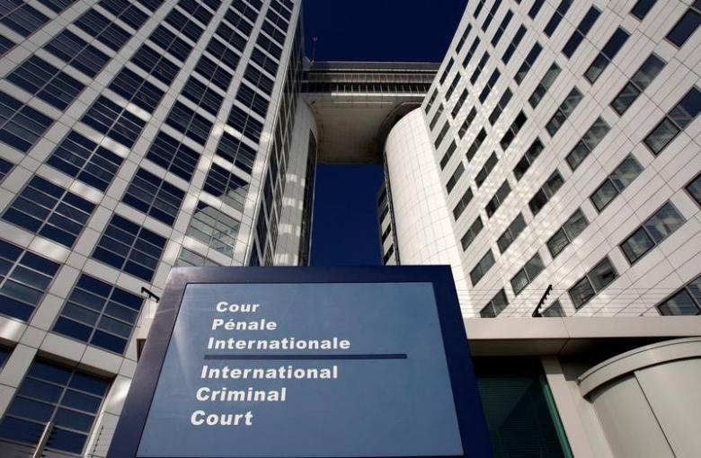 The entrance of the International Criminal Court (ICC) is seen in The Hague, Netherlands. Credit: Reuters/Jerry Lampen