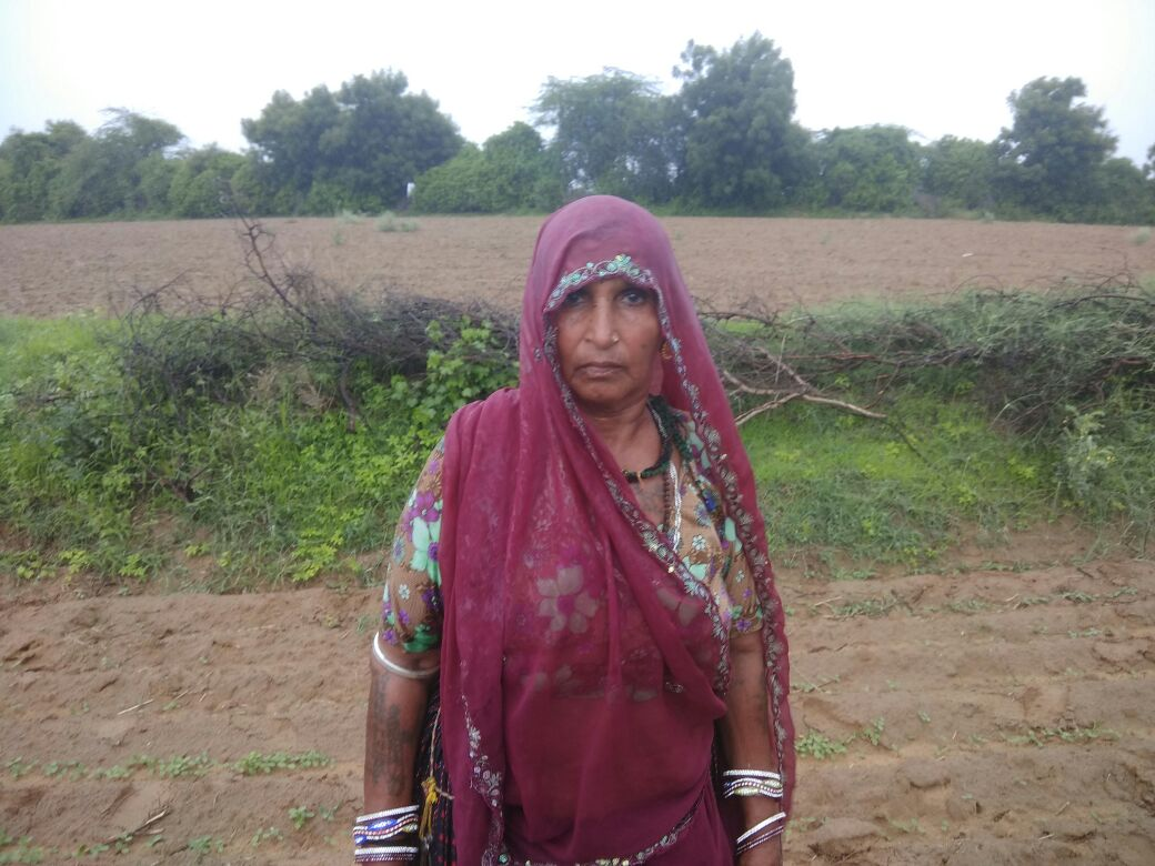 Trijaben , one of four Dalits who got back their land after 35 years on July 18. Credit: Damayantee Dhar