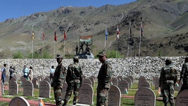 The Kargil memorial at Drass. Credit: PTI
