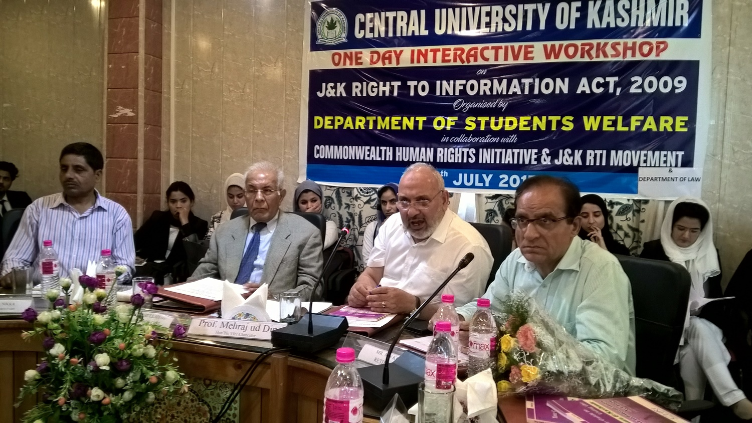 Misuse of Public Safety Act Brought up at Jammu and Kashmir RTI Workshop