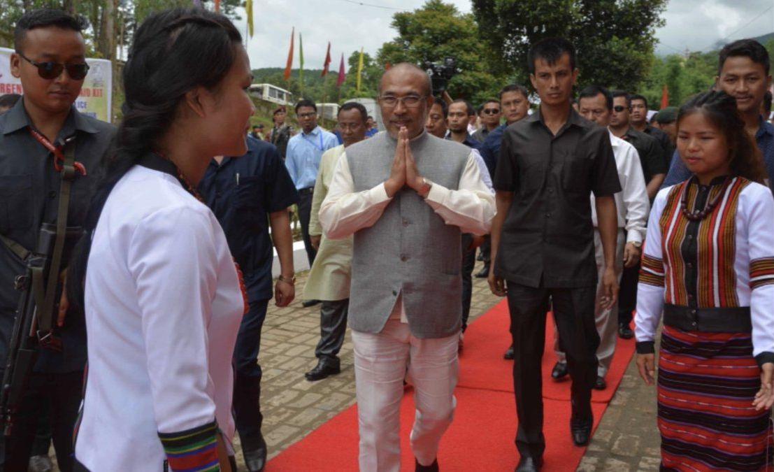 Manipur chief minister N. Biren Singh in Churachandpur. Credit: Twitter