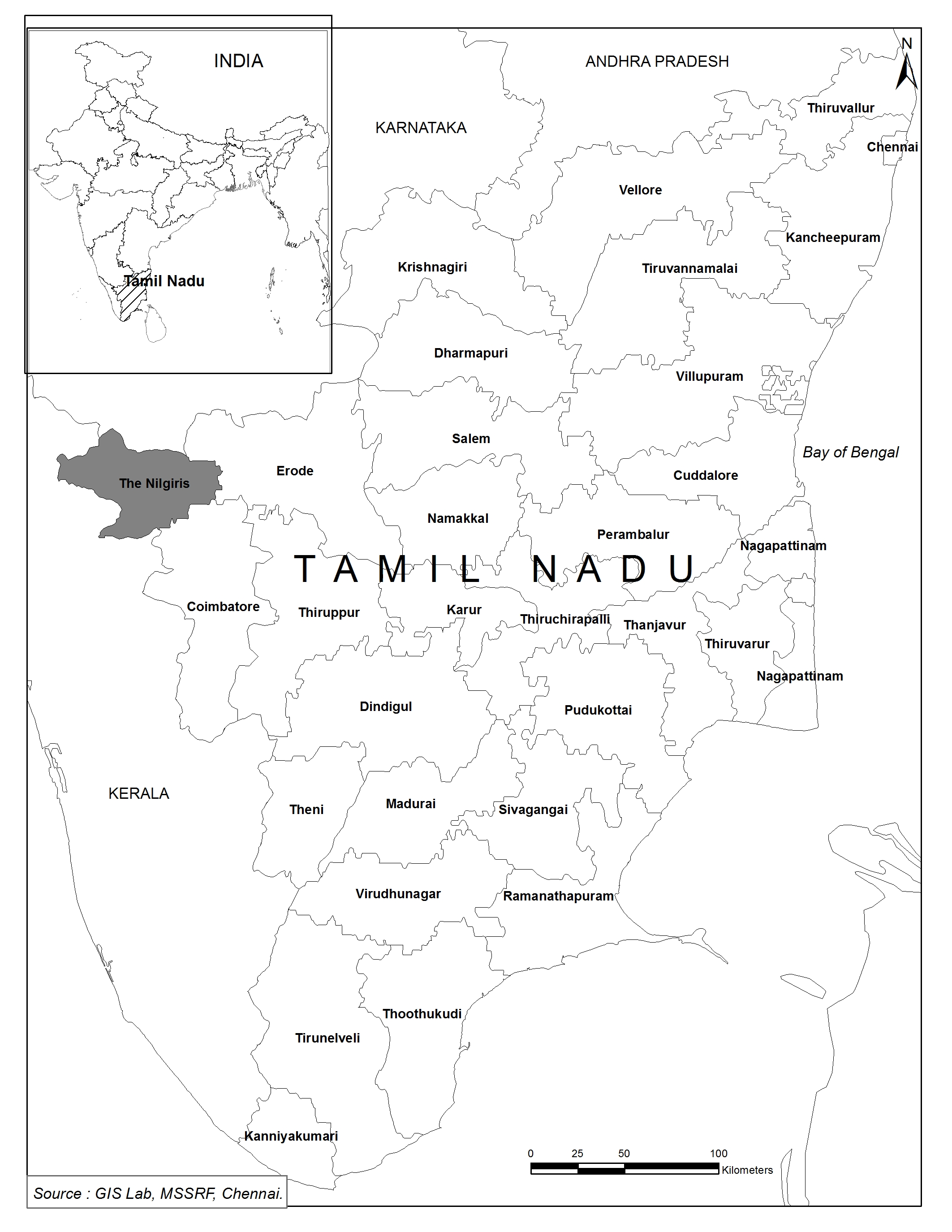 Pandalur-Devala, located within the Niligiris mountain range. Credit: MSSRF