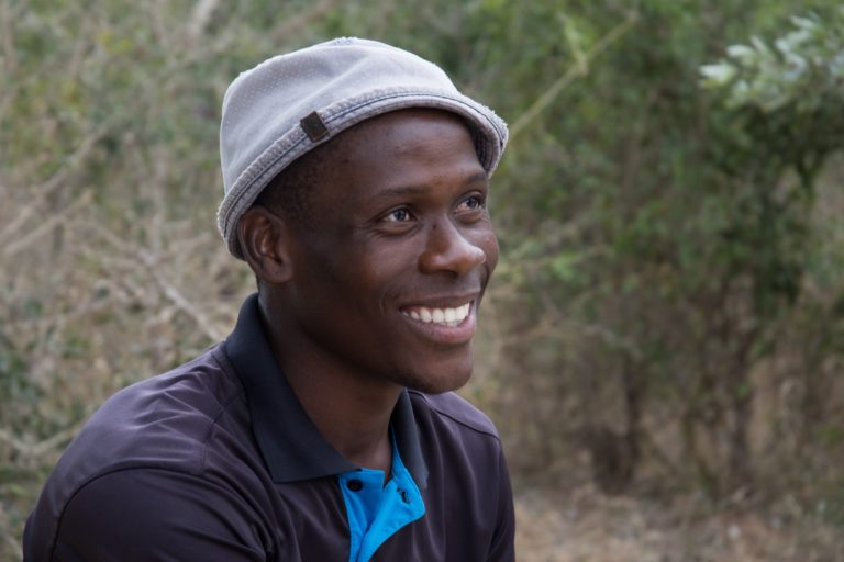Martin Mathabele works for a nonprofit on the outskirts of Kruger that aims to raise the awareness and appreciation of wildlife among school-age children. Credit: Justin Catanoso