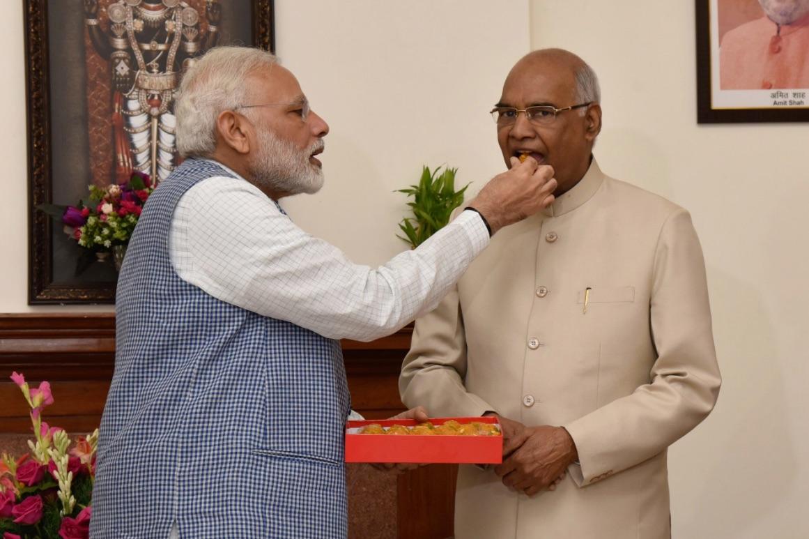 Ram Nath Kovind with PM Modi