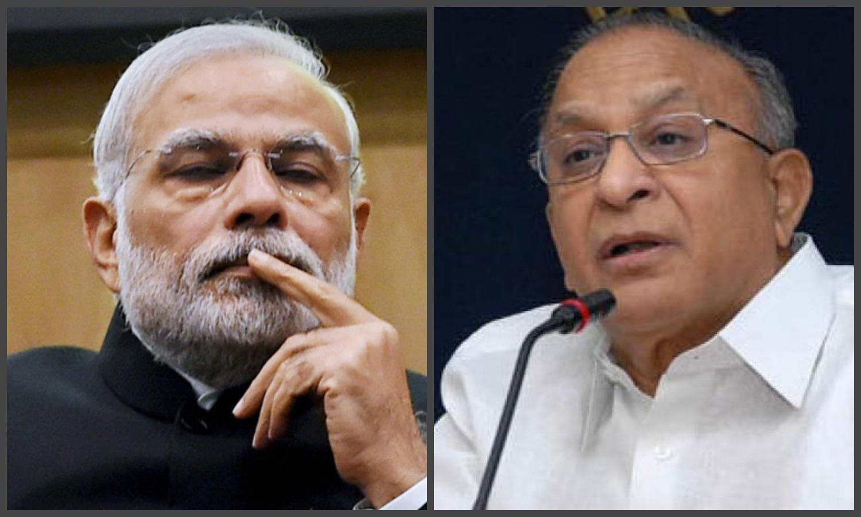 Prime Minister Narendra Modi (L) and S. Jaipal Reddy. Credit: PTI