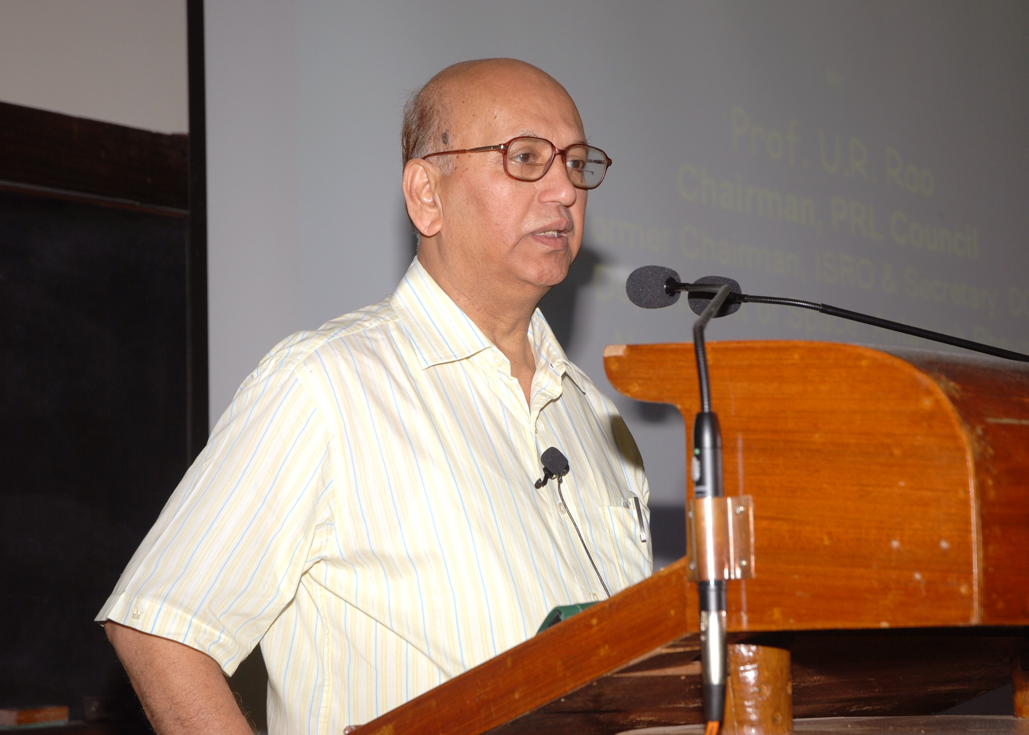 U.R. Rao, 2013. Source: Vikram Sarabhai Space Centre