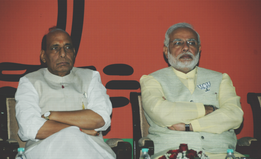 Colleagues Keep Away as Right Wing Trolls Target Rajnath Singh