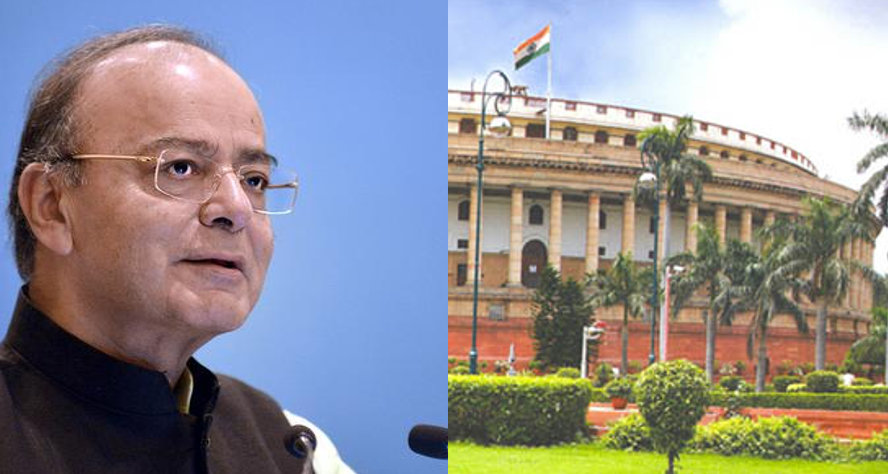 Finance minister Arun Jaitley introduced the Banking Regulation (Amendment) Bill, 2017 in the parliament. Credit: PTI