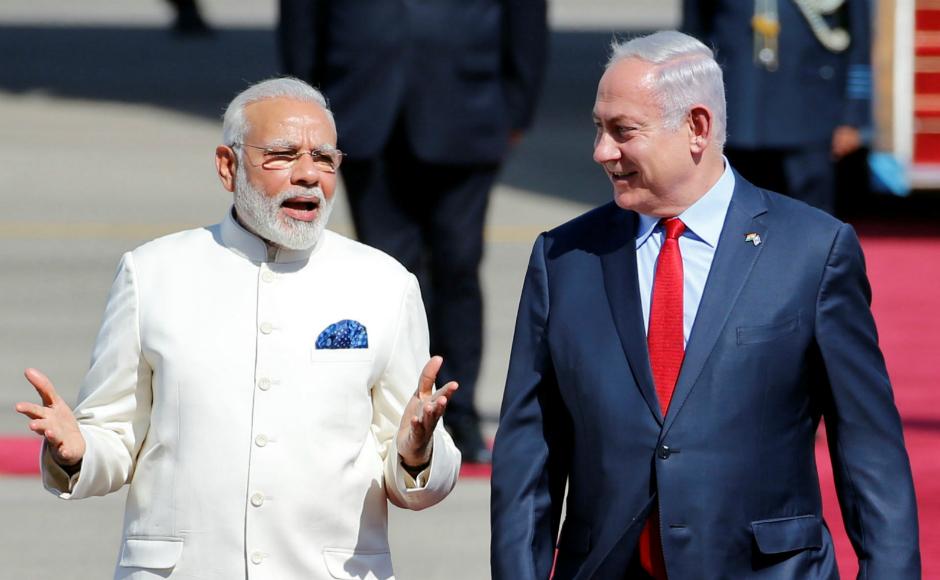 Prime Minister Narendra Modi and Israeli Prime Minister Benjamin Netanyahu. Credit: Reuters