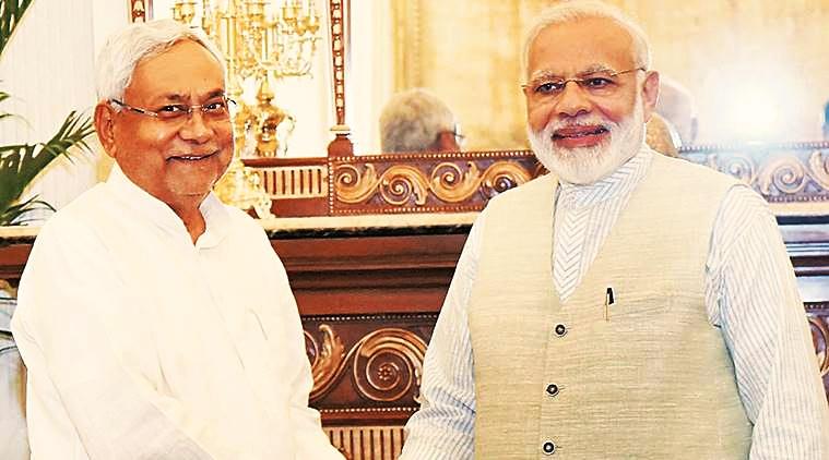 Bihar chief minister Nitish Kumar and Prime Minister Narendra Modi. Credit: PTI