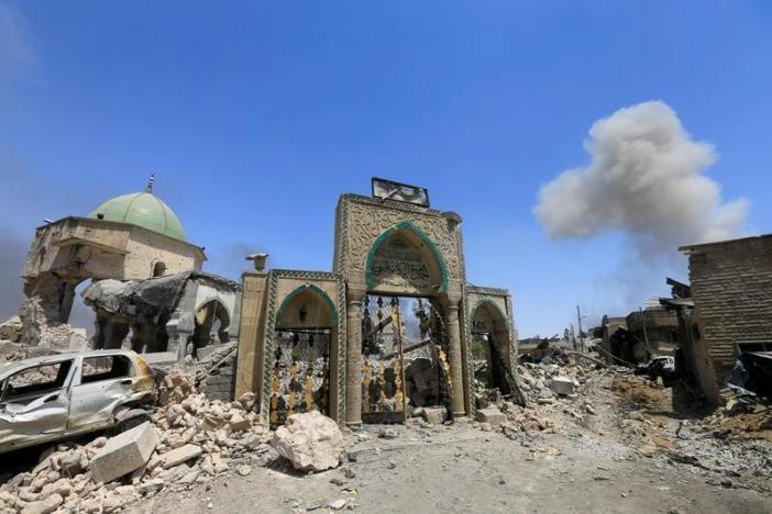 Mosul Mosque Where Islamic State Ruled in Ruins