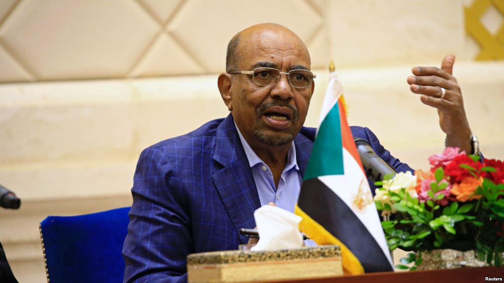 Sudan's President Omar Hassan al-Bashir speaks during a press conference after the oath of the prime minister and first vice president Bakri Hassan Saleh at the palace in Khartoum, Sudan March 2, 2017. Credit: Reuters/Mohamed Nureldin Abdallah