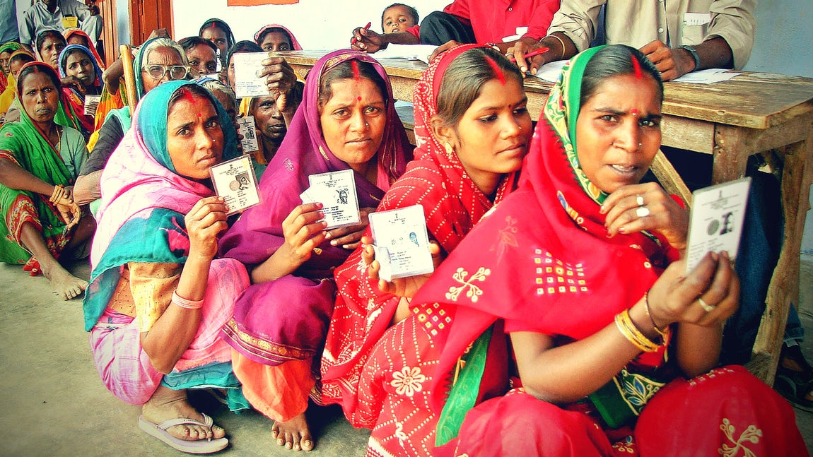 Women voters. Credit: Reuters/Files