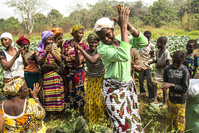 In Ghana, the stability of a woman's marriage and good relations with male relatives are critical factors in maintaining her land rights. Credit: FAO