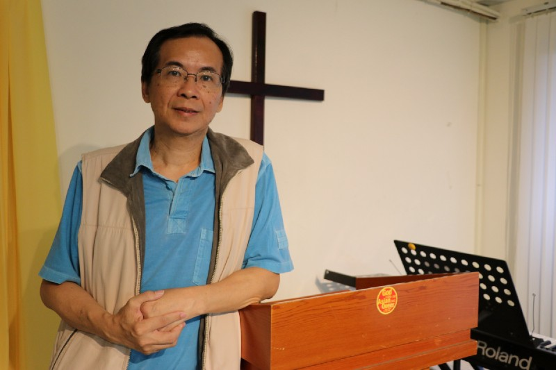 """Commenting on chapter 19 in the book of Genesis that conservative Christian groups often quote to oppose homosexual relations, Pastor Huang says, """"God didn't use the fire to burn down Sodom and Gomorrah because it was a gay city but because they were sinful. But people are focusing so much on one aspect because of the angels and the guy outside raped them. In fact, its not a homosexual issue, but the fact that they were raped"""". Credit: Makepeace Sitlhou"""