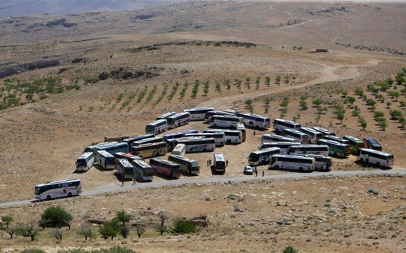 Syrians Evacuate Lebanese Border Camps, Sent Back To Rebel-Held Syria