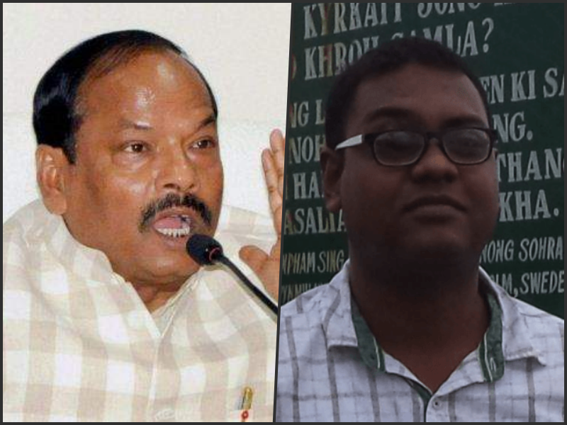 Jharkhand CM Raghubar Das (left) and author Hansda Sowvendra Shekhar who's book on adivasis has been banned. Credit: PTI/Facebook