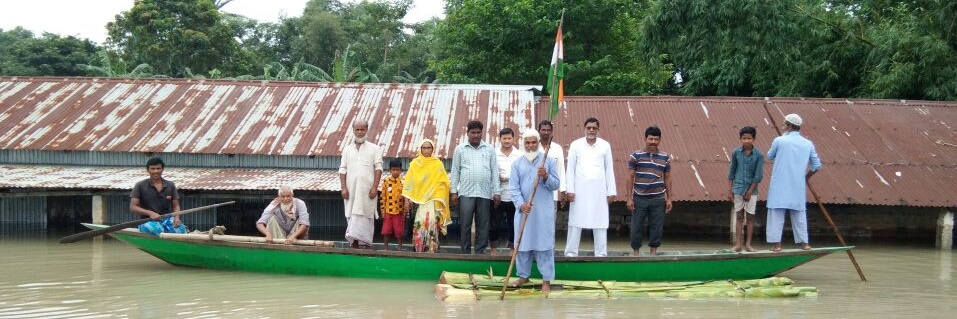 Amidst Scarcity of Land, Flood Affected Assam Celebrates Independence Day