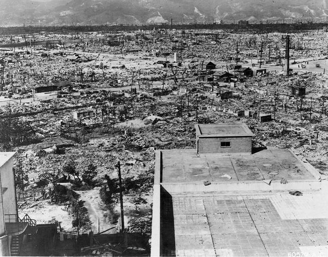 Effects of bombing in Hiroshima. Credit: Wikimedia Commons