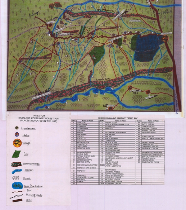 A preliminary map of the community forest claimed in a village. Courtesy: Madhu Ramnath
