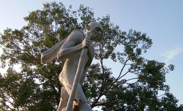 The Mahatma Gandhi statue in Guwahati made by Ramkinkar Baij. Credit: Sangeeta Barooah Pisharoty
