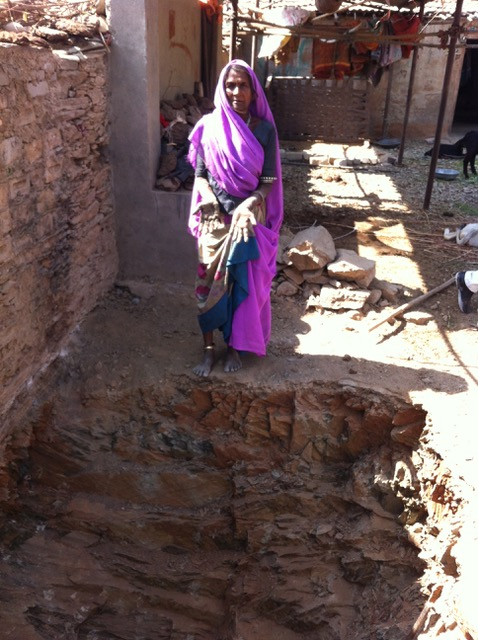 Villagers are being forced to dig toilets in rocky terrain. Credit: Sachin Rao