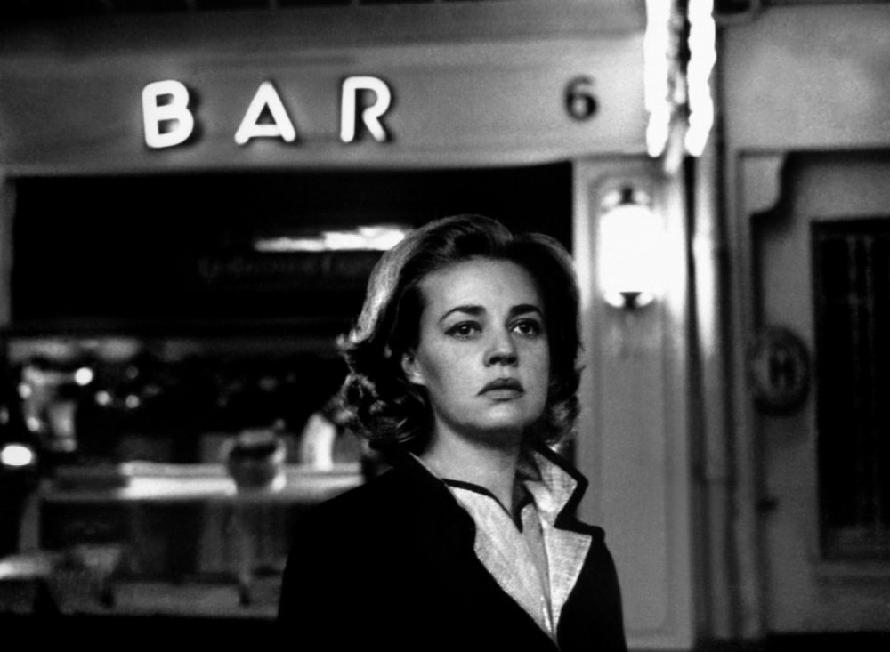Jeanne Moreau in <em>Lift to the Scaffold</em>.