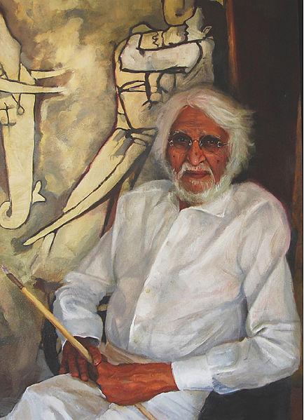 M.F. Husain. Credit: Wikimedia Commons