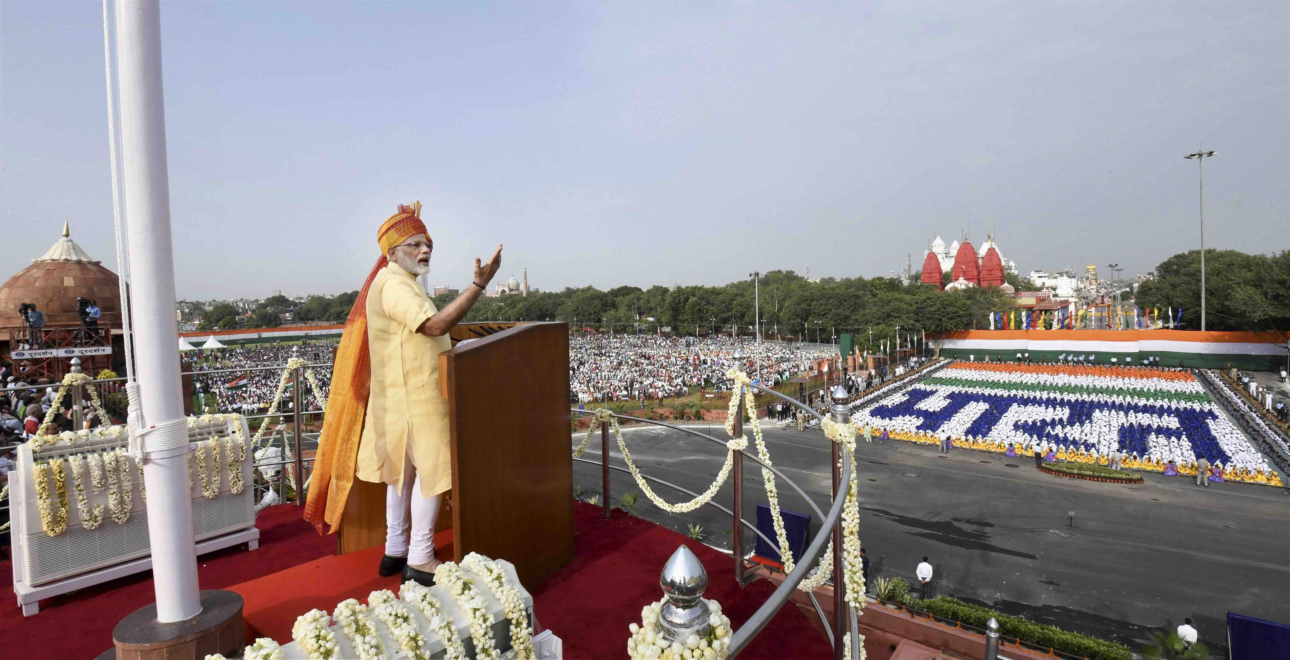 In I-Day Speech, Modi Talks About 'Natural Calamity' at Gorakhpur, Security Challenges and More